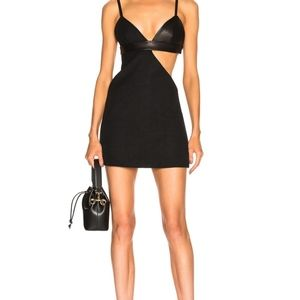 Fausto Puglisi leather cut out dress XS